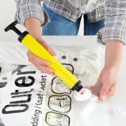 Kézi pumpa - Helytakarékos tároló táskák vákuumtömítéssel tömörített szervező táska és szivattyú