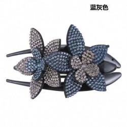 * 3 Szürke   Kék - Női haj karom haj strassz kristály hajtű klip ékszerek virág divat hajtű