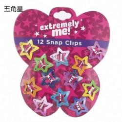 Csillag-12db - Kids BB Clips Candy Asymptotic Color Girls Children Glitter 12PCS / Set Hair Clips