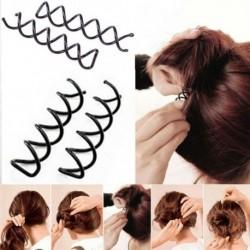 Nincs szín - 12db fekete hasznos spirálforgató csavar Bobby Pin női hajcsat Twist Barrette
