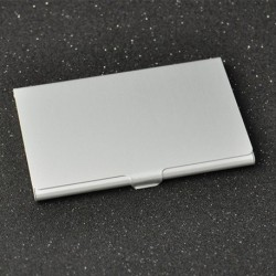 Nincs szín - Rozsdamentes acél ezüst alumínium üzleti azonosítójú hitelkártyatartó zsebdoboz tok