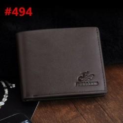 494 * - Férfi bőr üzleti pénztárca zsebkártyatartó tengelykapcsoló kétoldalas pénz vékony pénztárca