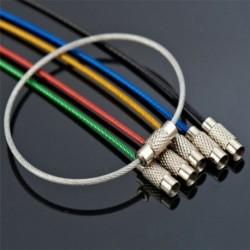 Nincs szín - Sok 5db rozsdamentes acél huzal kulcstartó kábel kulcstartó lánc szabadtéri túrázáshoz