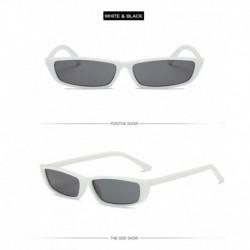 E-fehér - Női lapos objektíves tükrös keretű szemüveg fém túlméretes macskaszem UV400 napszemüveg