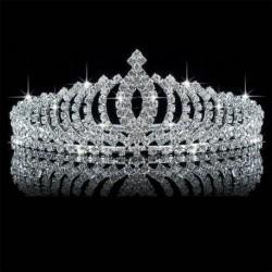Nincs szín - Kristály strassz esküvői menyasszonyi Diamante Tiara fejpánt hajszalag csattal