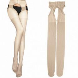 Bézs - Divat női szexi csipke felső Stay Up comb magas harisnya harisnyanadrág harisnya zokni