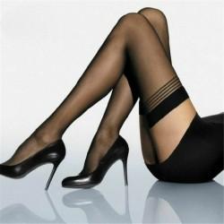Fekete * 2 - Divat női szexi csipke felső Stay Up comb magas harisnya harisnyanadrág harisnya zokni