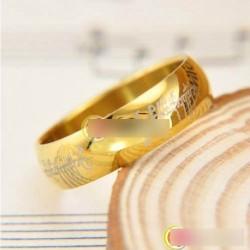 1x Rozsdamentes acél mágikus gyűrű  Gyűrűk Ura 6MM