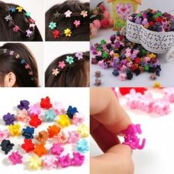 Nincs szín - 30db gyerekek kislányok cukorkás színű hajtűk mini karom hajcsipesz bilincs virág új