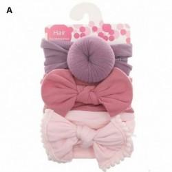 A - 3db gyerek kislány kisgyermek íj hajszalag fejpánt nyújtó turbán csomó fejpakolás