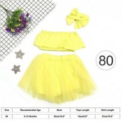 80cm (6-12 hónapďĽďĽ) - Aranyos újszülött csecsemő kislány ruhák váll tetején   Tutu Tulle szoknya