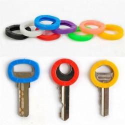 Nincs szín - 8PC élénk színek üreges szilikon kulcstartó fedéllel ellátott kulcstartó Bly Braille-tel