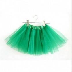 Zöld - 3 rétegű kisgyermek gyerek lányok tutu szoknya öltöztetős jelmezes party 2-9 éves ajándék