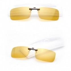 Éjszakai látás - Polarizált vezetési UV 400 Night Vision Clip-on Flip-up lencsés napszemüveg szemüveg