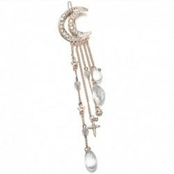 Rózsa arany - Hold kristály strassz gyöngyök csüngő hajtűvel hajtű női menyasszonyi ékszerek