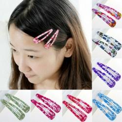 Nincs szín - 10db lapos többszínű hajrögzítő kapcsok karom női női haj kiegészítők