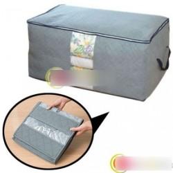 65L bambusz Összecsukható tároló Szervező Box