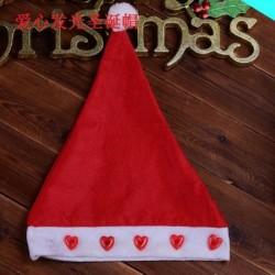 Szív - 2020 karácsonyi Santa Hat sapka ünnepek piros ruha Xmas Party LED világít kalap AU