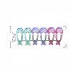 * 2 6db (sellő) - 6db lányos babagyümölcs hajcsat bepattintja a hajtűk mini barrette hajkiegészítőit