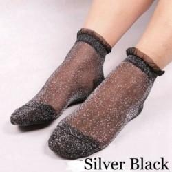 27. - Vintage női fodros íj necc boka magas zokni háló csipke hal háló rövid zokni