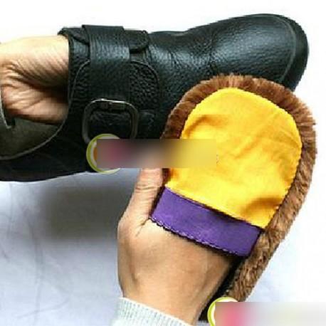 Puha gyapjú polírozó cipő tiszta tisztító kesztyű