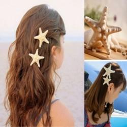 Nincs szín - Női hölgy édes csinos lányok tengeri csillag tengerpart tengeri csillag hajtű ajándék klip ajándék