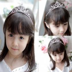 Nincs szín - Gyerek lány strasszos kristály tiara haj zenekar menyasszonyi hercegnő bál korona fejpánt