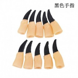 Halloween jelmez - 10db Hosszú fekete körmös ujj