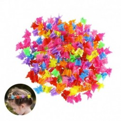 Nincs szín - 20 db mini hajkarm több színű hajcsat pillangó alakú hajkapocs