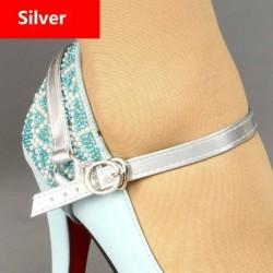 Ezüst - PU bőrből levehető cipőszíj szalag laza, magas sarkú cipő tartására