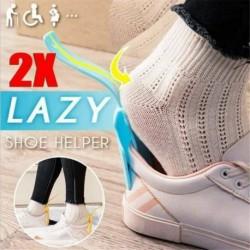2db - Viseljen cipősegítőket Cipőkürt Lusta segédkezelő Könnyen kezelhető off cipőemelő segítő ~