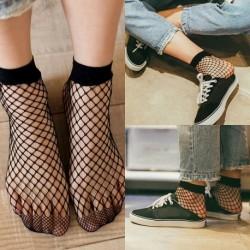Fekete zokni - Női fekete háló necc háló mintás harisnyanadrág harisnya harisnya divat zokni jp