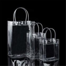 13 * 19 * 8cm - Hordozható átlátszó átlátszó Tote Gft táska pénztárca válltáska PVC méret S / M / L