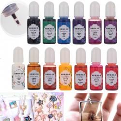 13 palack 10g epoxi UV gyanta festék színezék gyanta pigment vegyes szín DIY kézműves