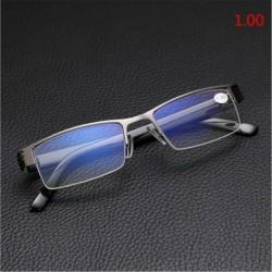 1.00 - Férfi félkeretes stílusú kék film sugárzás elleni olvasószemüveg Kiváló minőségű