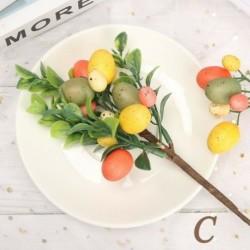 C - Kreatív húsvéti tojásfa dekorációs ág festő tojások húsvéti tojás díszek