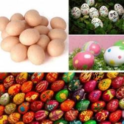 10 db - 1/5 / 10db Húsvéti szimuláció tojásdíszek Gyermek tojások játékok-dekoráció festett Z6W2