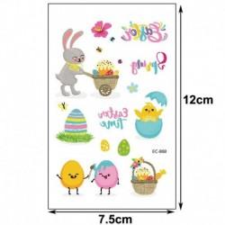 7 * - Húsvéti gyerekek rajzfilm ideiglenes tojásos állat tetováló matricák fél napi matricák