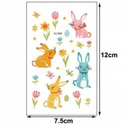 8 * - Húsvéti gyerekek rajzfilm ideiglenes tojásos állat tetováló matricák fél napi matricák