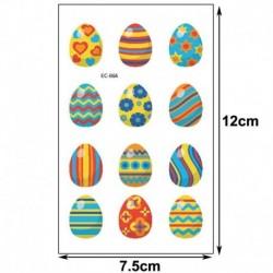 4 * - Húsvéti gyerekek rajzfilm ideiglenes tojásos állat tetováló matricák fél napi matricák