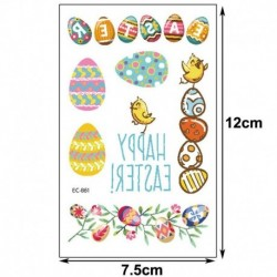 1 * - Húsvéti gyerekek rajzfilm ideiglenes tojásos állat tetováló matricák fél napi matricák