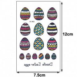 3 * - Húsvéti gyerekek rajzfilm ideiglenes tojásos állat tetováló matricák fél napi matricák