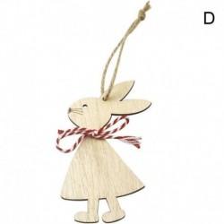 4 * - 3db / szett fából készült húsvéti nyúl DIY fa dekoráció függő kézműves díszek lakberendezés