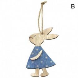 2 * - 3db / szett fából készült húsvéti nyúl DIY fa dekoráció függő kézműves díszek lakberendezés