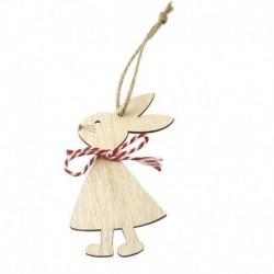 3db * 4 - 1 / 3db húsvéti nyúl fa medál dekoráció aranyos nyuszi függő dísz otthon