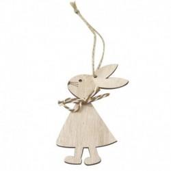 3PCS * 3 - 1 / 3db húsvéti nyúl fa medál dekoráció aranyos nyuszi függő dísz otthon