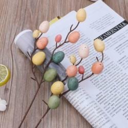 Nincs szín - Mesterséges hamis cumi tojások húsvéti fa ágai vicc tréfa otthoni party dekoráció