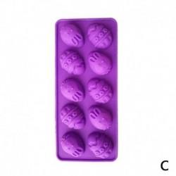 Lila - 1x húsvéti tojás csokoládé dekorációs sütemény süti pékség szilikon sütőformák barkácsolás