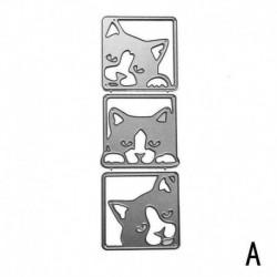 A896 három kutya - Húsvéti nyúl fém vágó Die Scrapbook dombornyomásos sablon DIY készítésű kártya
