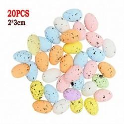 Tetszőleges szín - 20db húsvéti tojás többszínű habdíszek lakberendezési barkácsolás kézműves játék ajándékok